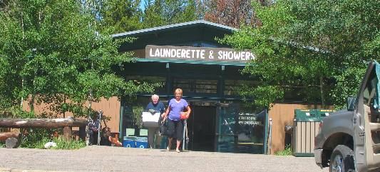 Laundry and Showers at Colter Bay Village in Grand Teton National Park & Colter Bay